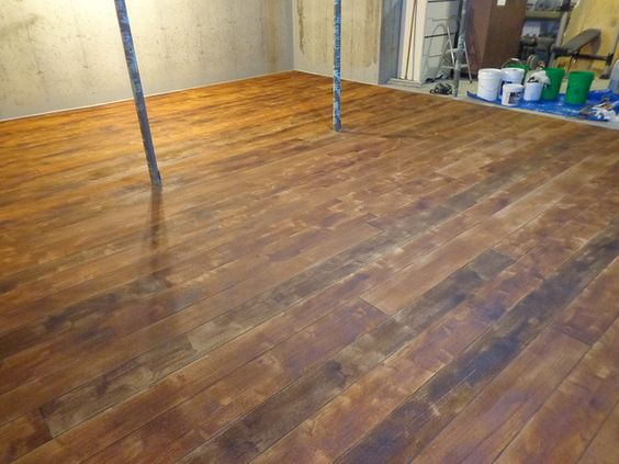 concrete wood basement flooring and flooring on pinterest