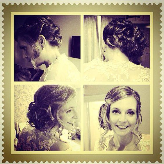 Beautiful wedding hair by Louise