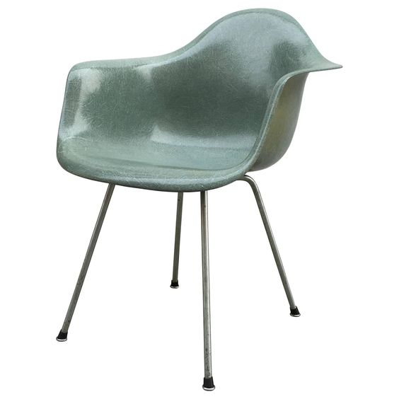 Eames Zenith Seafoam Green DAX Dining Chair | From a unique collection of antique and modern chairs at https://www.1stdibs.com/furniture/seating/chairs/