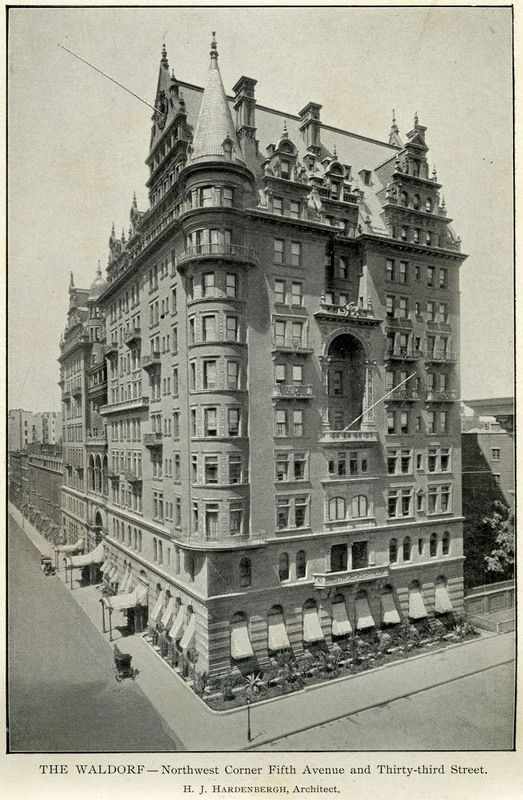 The Waldorf Hotel, New York City.: