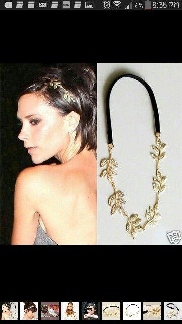 Victoria Beckham .... head chain