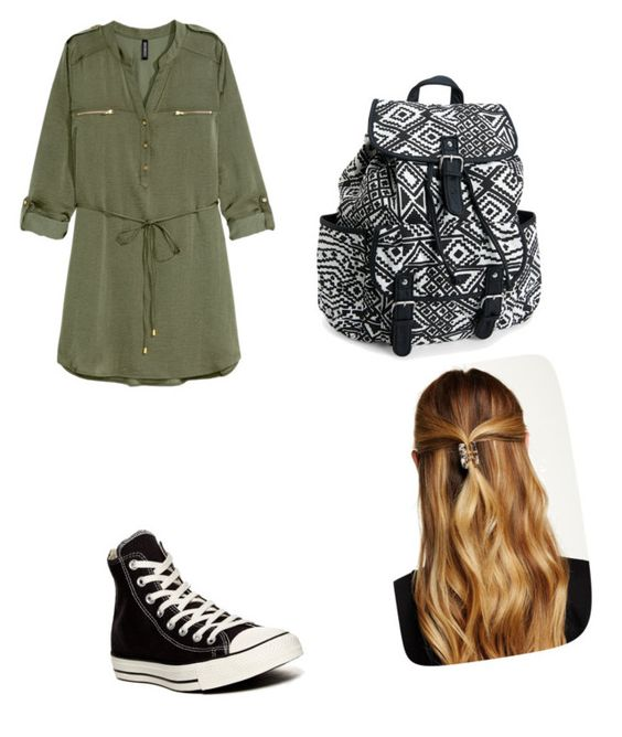 """""""Untitled #28"""" by caleighlydon on Polyvore featuring H&M, Converse, Aéropostale and Natasha Accessories"""