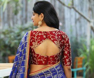 55 Latest Pattu Saree Blouse Back Neck Designs Trending Blouse Back Patterns For Silk Sarees Fancy Blouse Designs Elegant Blouse Designs Fashion Blouse Design