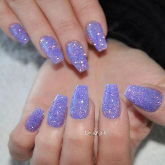 Έφη Θεοδώρα @nailsbyeffi Purple glitter  ...Instagram photo | Websta (Webstagram)