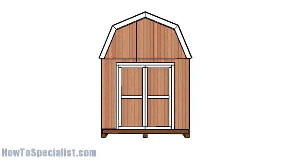10x10 Barn Shed Roof With Loft Plans Howtospecialist How To Build Step By Step Diy Plans Diy Shed Plans Barns Sheds Shed Plans
