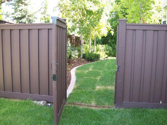 Brown Vinyl Fence | Trex Fencing | Trex Fencing Cost | Ma | Composite  Fencing .