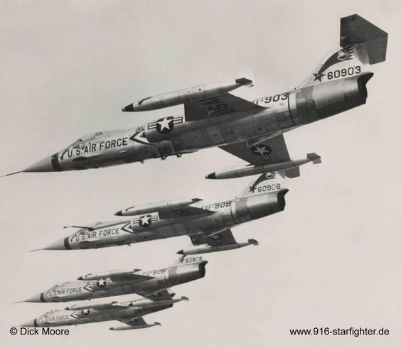 The F-104 Starfighter. The only Air Force Fighter ( Blackjack 5 ) to be caught and destroyed in the U.S.S. Enterprise NCC-1701's Tractor Beam.
