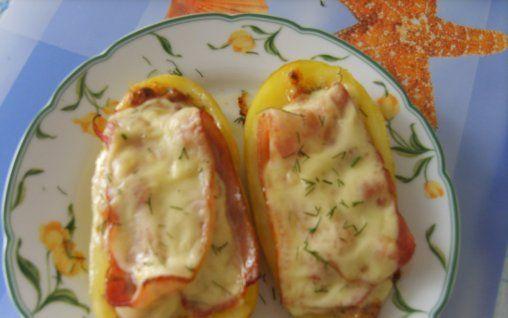 Retete Culinare - Cartofi umpluti la cuptor
