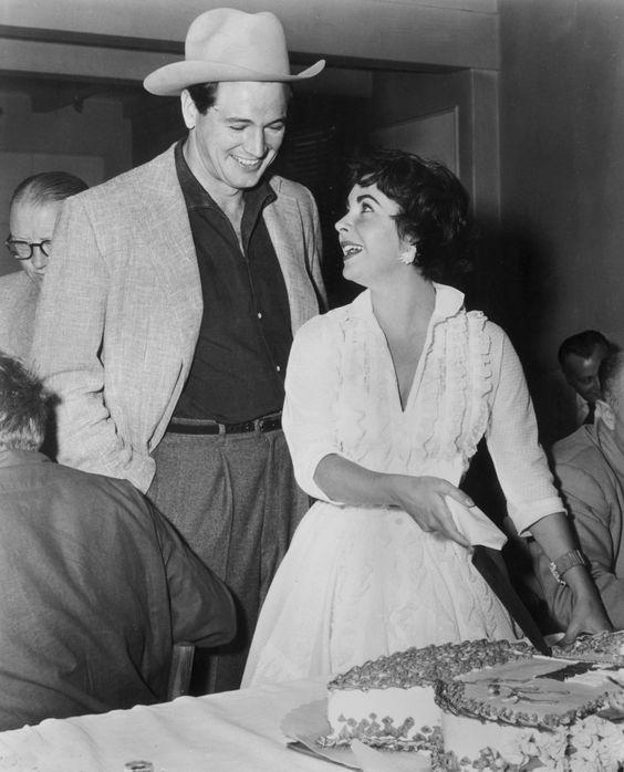 """Elizabeth Taylor and Rock Hudson in """"Giant"""" (1956)"""