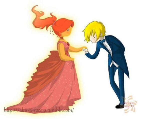 Flame princess and Finn