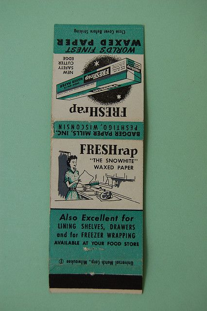 picture of old match books | Vintage matchbook: Freshrap waxed paper | Flickr - Photo Sharing!