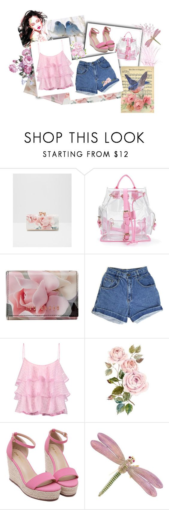 """Love my denim shorts!"" by leaff88 ❤ liked on Polyvore featuring Ted Baker, Pierre Balmain and Tiffany & Co."