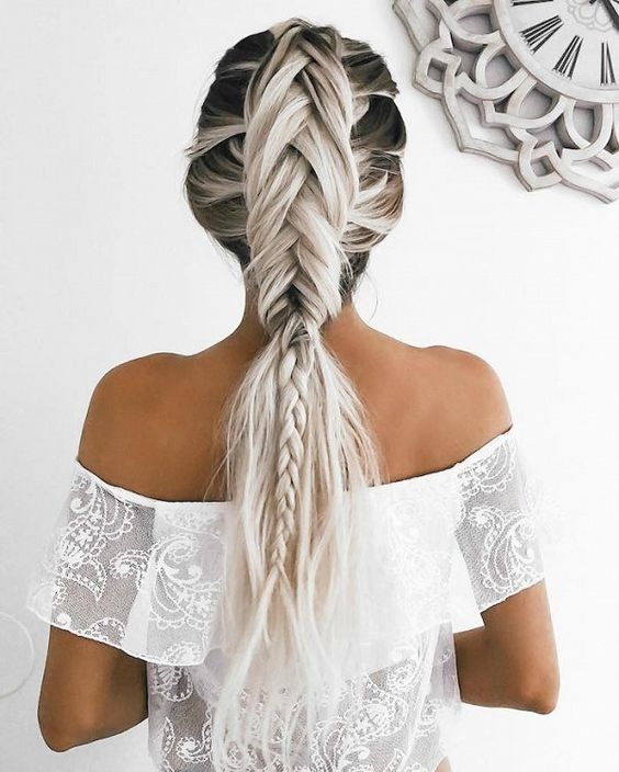 This grey unicorn braid is everything