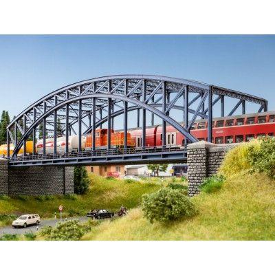 """Laser-Cut Bausatz """"Bogenbrücke"""" für die Modelleisenbahn, Spur H0"""