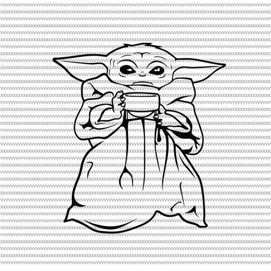 Baby Yoda Svg Baby Yoda Vector Baby Yoda Digital File Star Wars Svg Star Wars Vector The Mandalorian The Child Svg Star Wars Drawings Yoda Drawing Yoda Art