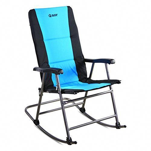 Guide Gear Oversized Rocking Camp Chair 500 Lb Capacity Blue