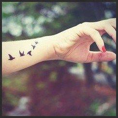 Bird Tattoo Wrist Flock Of Black Birds Tattoo Of Freedom Dream Bird Tattoo Wrist Black Bird Tattoo Freedom Bird Tattoos
