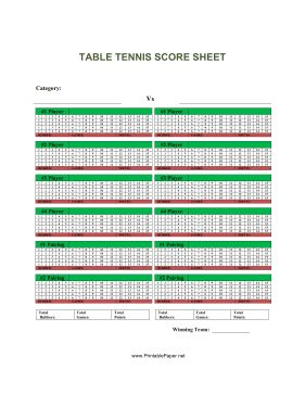This Table Tennis Score Sheet Has Space To Report The Results Of A Table  Tennis Match. Free To Download And Print | Letterings | Pinterest | Tennis  Scores, ...