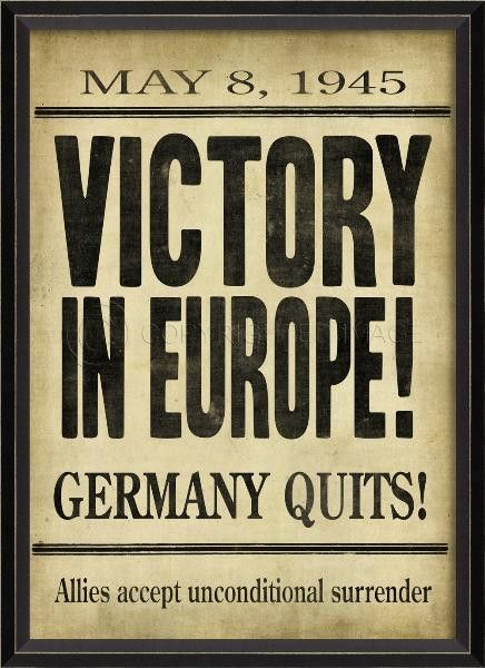 Victory in Europe Framed Headline Wall Art from www.wellappointedhouse.com #homedecor #decorate #wallart #wallbrackets #plateholders