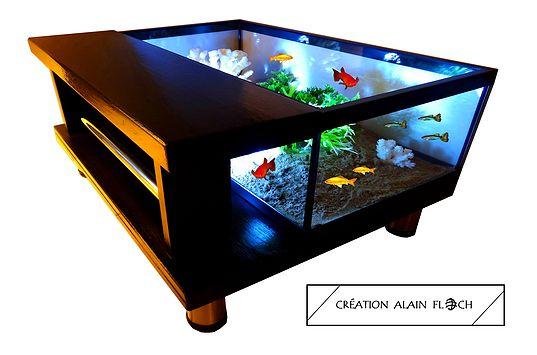 Table de salon aquarium ANASTAR | Table basse aquarium terrarium ...