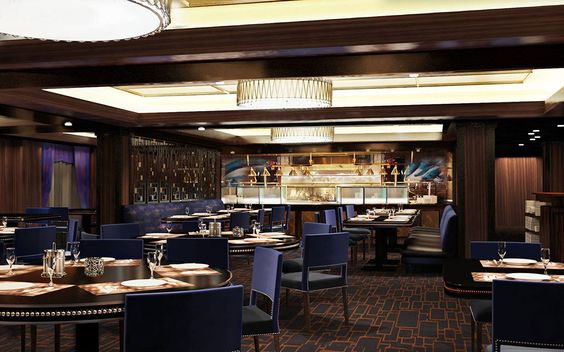 Cagney's Steakhouse Rendering ~ Norwegian Cruise Line Releases New Norwegian Escape Details | Popular Cruising (Image Copyright © Norwegian Cruise Line)