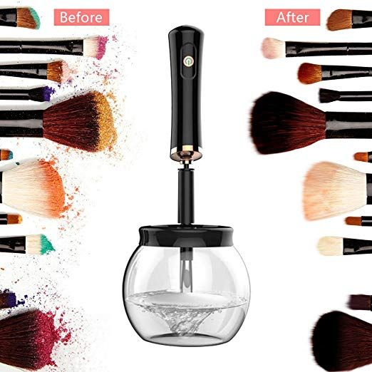 Amazon Com Makeup Brush Cleaner Spinner Qirageins Brush Cleaner