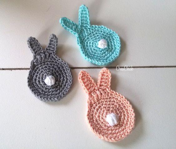 Free Crochet Dutch Rabbit Pattern : Garland made of crochet Bunnies Free (Dutch) pattern ...