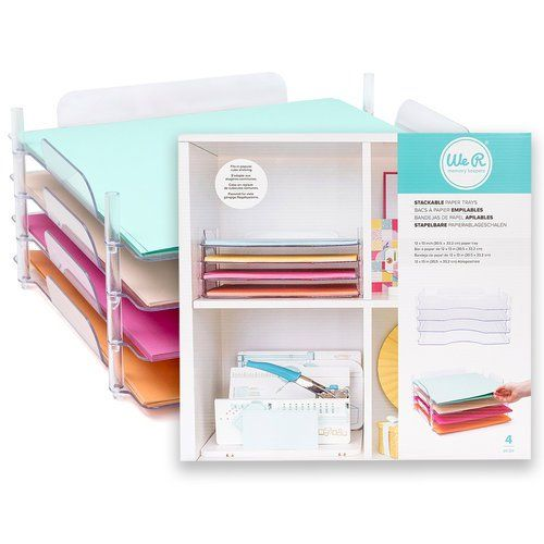 We R Memory Keepers Stack And Nest Paper Trays 4 Pack Paper Tray Sticker Storage Scrapbooking Sticker Storage
