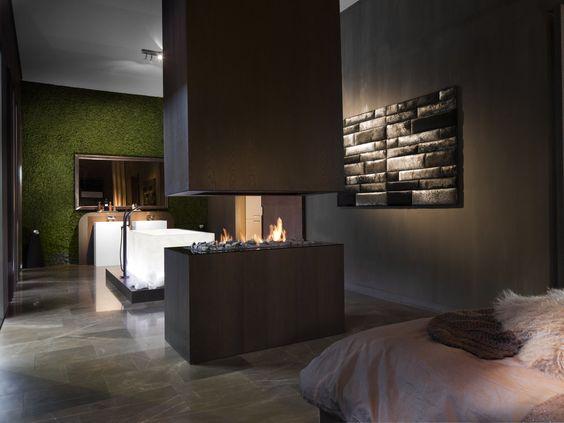 Doorkijkhaard | Roomdivider | 870 Vrijhangend | Boley.nl