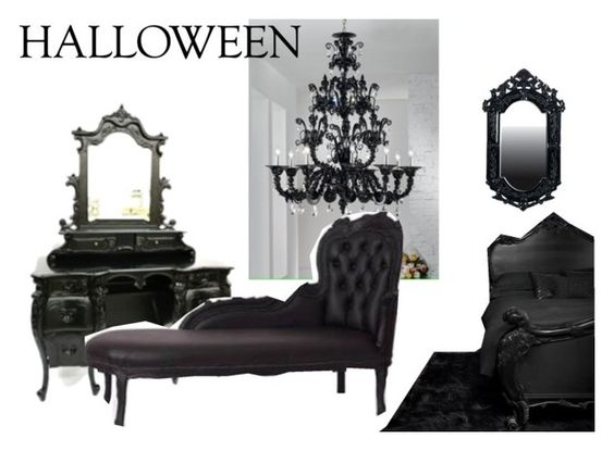 """Haunted House"" by bikergal98 ❤ liked on Polyvore featuring interior, interiors, interior design, дом, home decor, interior decorating, Halloween и hauntedhouse"