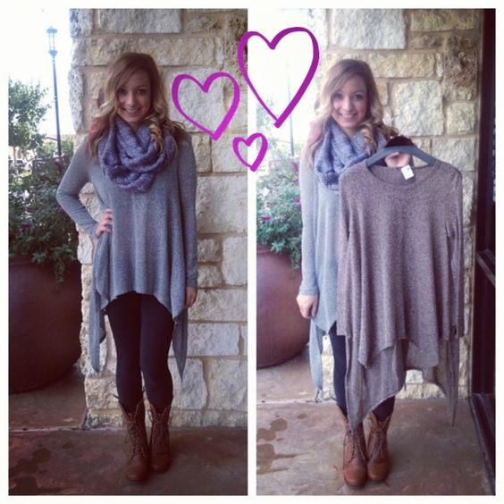 Super cute tunic sweater! Perfect for fall!