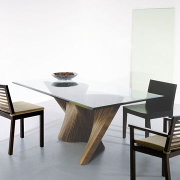 Kenneth cobonpue wave dining table modern and for Contemporary dining table designs