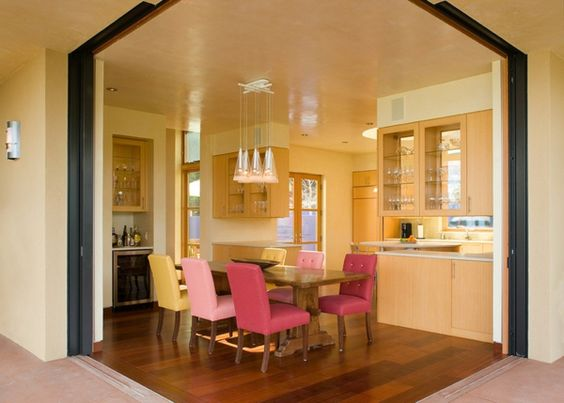 tolle tische und stühle rosa holz leuchter küche | for home