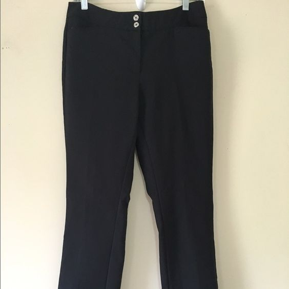 White House Black Market Dress Pants 4R White House Black Market Black Dress Pants Straight Leg Size 4R- in excellent condition White House Black Market Pants Straight Leg