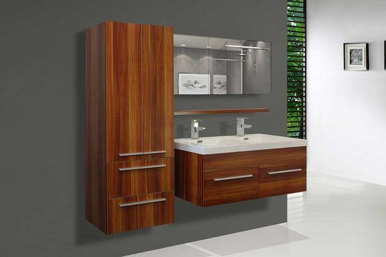 Vanit de salle bain vanit de salle de bain 2 cuves cuisine pinteres - Meuble lavabo liquidation ...