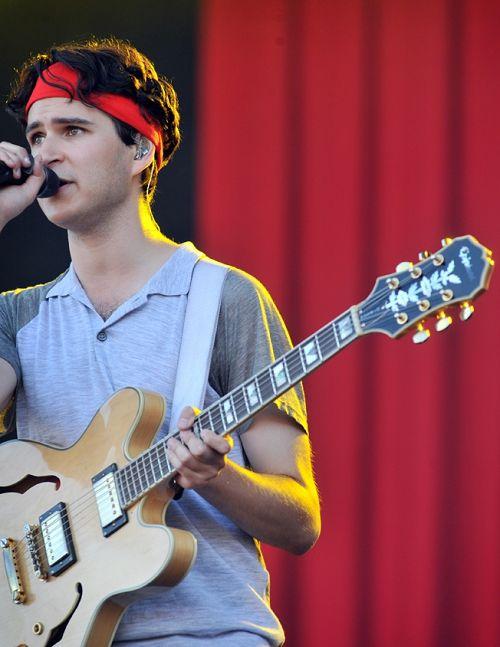 Ezra Koenig sweat band pic    circa 2011