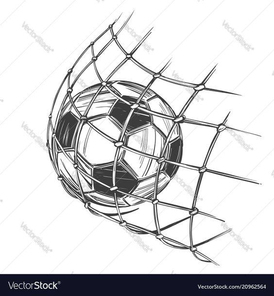 Football Soccer Ball Sports Game Emblem Sign Vector Image On Vectorstock Football Drawing Football Tattoo Soccer Drawing