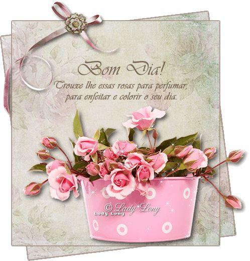 03 Bom Dia Frases E Mensagens Bom Dia Com Flores