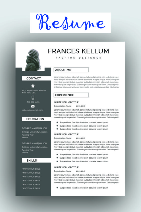 Resume Template Professional Resume Ms Word Resume Modern