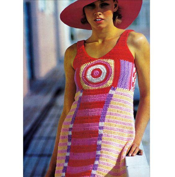 Vintage+1970s+Crochet+Pattern+Geometric+Mini+by+2ndlookvintage,+$3.00