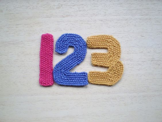 Knitting Pattern Numbers : Numbers, Number patterns and Free knitting on Pinterest