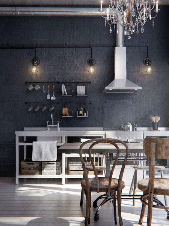 Mit Farbe und Design aus einer schnöden 1Raumwohnung ein cooles Heim mit Loft Charakter zaubern