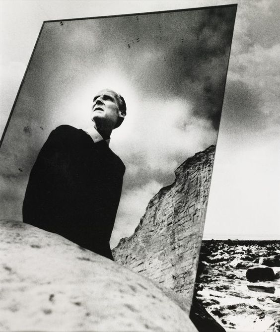 Bill Brandt … Self-Portrait with Mirror … East Sussex Coast … 1966 … Bill Brandt (born Hermann Wilhelm Brandt, 2 May 1904 – 20 December 1983), German born British, nude/portrait/landscape photographer/photojournalist, widely considered to be one of the most important British photographers … nineteensixties …