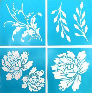 Martha Stewart Plaid 33558 Vintage Décor Blossom Stencil