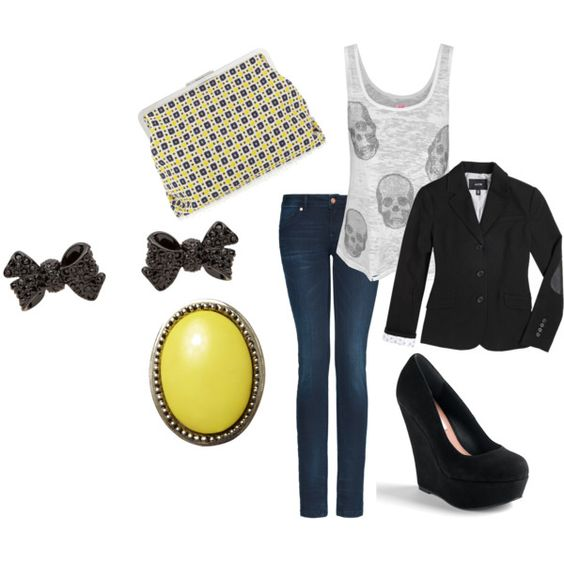 """""""yellow"""" by smkerwin on Polyvore"""