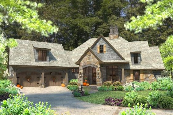 House plan 9401 00082 reminiscent of the european for Exterior features of a house