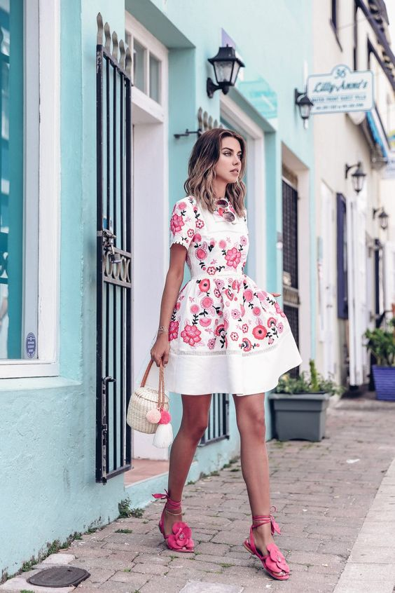 Kate Spade pink floral print dress