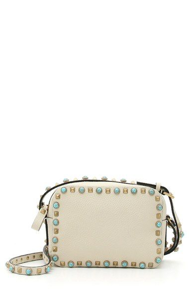Valentino Valentino 'Rockstud - Alce' Camera Leather Crossbody Bag available at #Nordstrom