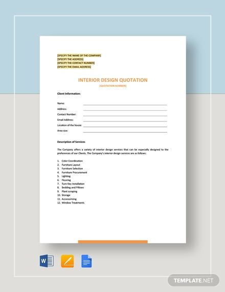 Free Sample Quotation Web Design Quotes Quotations Web Design