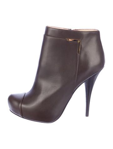 Fendi Leather Ankle Boots w/ Tags